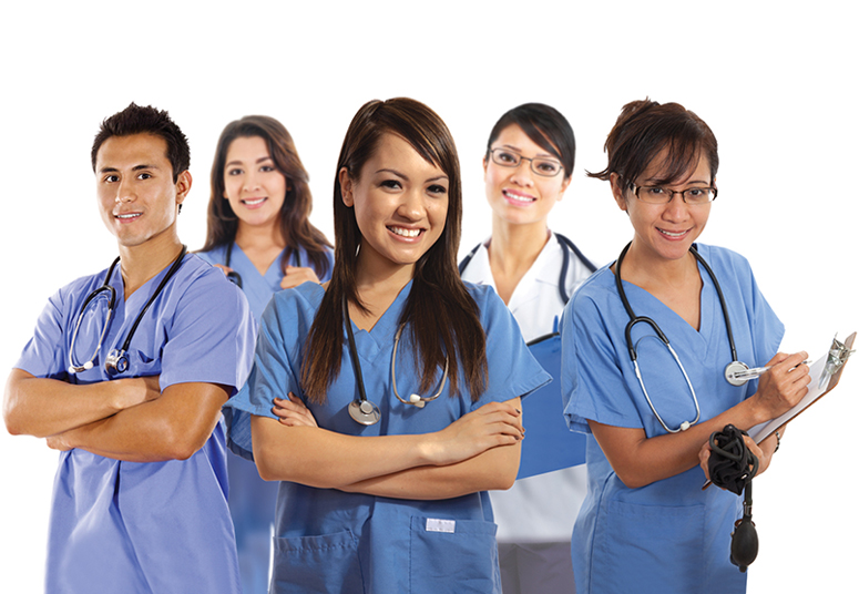 Direct Hire nurses ready to apply - group of five
