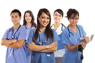 group of 5 international direct hire nurses